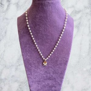 1 Piece Butterfly Pearl Necklace