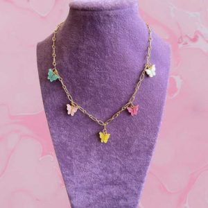 1 Piece Colorful Butterfly Neck