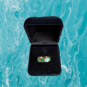 Green Hearts Ring