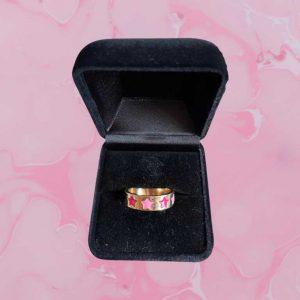 Pink Stars Ring